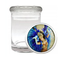 Carnival D10 Odorless Air Tight Medical Glass Jar Container Brazil Sexy Fun - $7.88