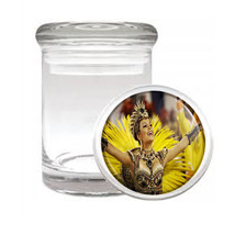 Carnival D2 Odorless Air Tight Medical Glass Jar Container Brazil Sexy Fun - $7.88