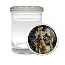 Carnival D12 Odorless Air Tight Medical Glass Jar Container Brazil Sexy Fun - $7.88
