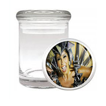 Carnival D3 Odorless Air Tight Medical Glass Jar Container Brazil Sexy Fun - $7.88