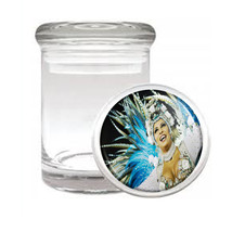 Carnival D6 Odorless Air Tight Medical Glass Jar Container Brazil Sexy Fun - $7.88