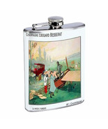 Champagne France Airplane 1910 D321 Flask 8oz Stainless Steel - $9.85
