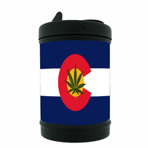 "Colorado Flag Black Metal Car Ashtray D5 Denver 420 State 3.5"" x 2.25"" - $8.86"