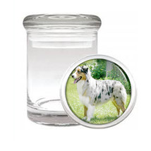 Dog Australian Shepherd 01 Odorless Air Tight Medical Glass Jar - $11.41