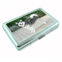 Dog Alaskan Malamute 01 Metal Silver Cigarette Case - $10.42
