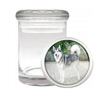Dog Alaskan Malamute 01 Odorless Air Tight Medical Glass Jar - $11.41