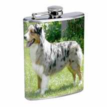 Dog Australian Shepherd 01 Stainless Steel Flask 8oz - $231,31 MXN