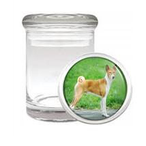 Dog Basenji Odorless Air Tight Medical Glass Jar - $11.41