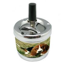 Dog Basset Hound 02 Stylish Designer Spin Ashtray - $7.91