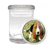 Dog Basset Hound 02 Odorless Air Tight Medical Glass Jar - $12.95