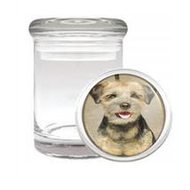 Dog Border Terrier 02 Odorless Air Tight Medical Glass Jar - $12.95