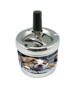 Dog Bulldog 02 Stylish Designer Spin Ashtray - $7.91