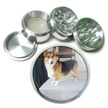 Dog Corgi 01 Aluminum Herb Tobacco 4pc Grinder - $12.40