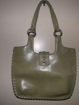 Vintage 80's Guess Olive Green Vinyl Naugahyde Designer Handbag Purse - $16.99