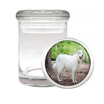 Dog Great PyreneesMountainDog Odorless Air Tight Medical Glass Jar - $12.95