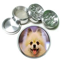 Dog Smiling TanPomeranian Aluminum Herb Tobacco 4pc Grinder - $12.40