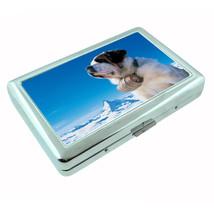 Dog St Bernard 02 Metal Silver Cigarette Case - $10.42