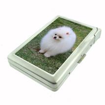 Dog White Pomeranian Cigarette Case w/ Built In Lighter - $12.40