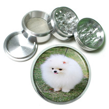 Dog White Pomeranian Aluminum Herb Tobacco 4pc Grinder - $12.40