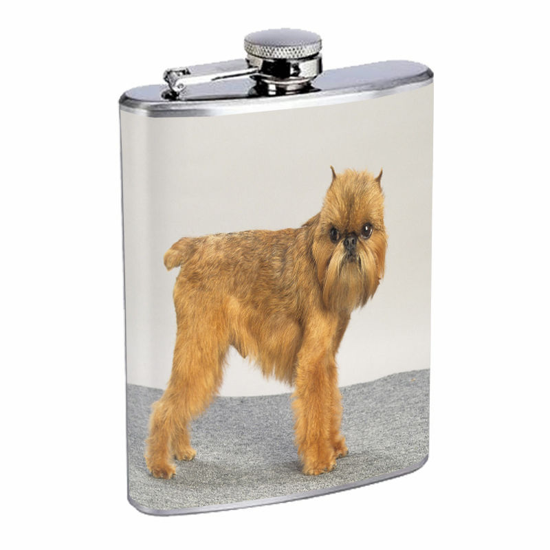 Dog brussels griffon 01 Stainless Steel Flask 8oz