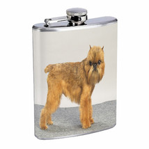 Dog brussels griffon 01 Stainless Steel Flask 8oz - $11.41