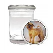 Dog brussels griffon 02 Odorless Air Tight Medical Glass Jar - $11.41
