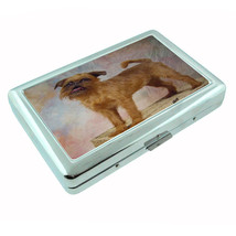 Dog brussels griffon 02 Metal Silver Cigarette Case - $10.42
