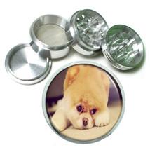 Dog pompom pomeranian pup Aluminum Herb Tobacco 4pc Grinder - $12.40