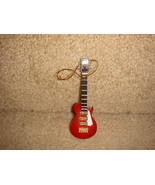 "ELECTRIC GUITAR RED INSTRUMENT ORNAMENT 4"" ROCK & ROLL MUSIC - $10.84"