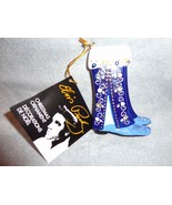 "ELVIS PRESLEY BLUE SUEDE SHOES STOCKING ORNAMENT 3.5"" HIGH - $7.87"