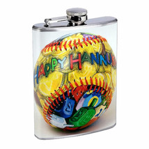 Flask 8oz Stainless Steel Hanukkah Design-008 - €6,45 EUR