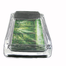 """Forest Glass Ashtray D2 4""""x3"""" Timber Trees the Woods Landscape Forestland - $9.85"""