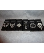 GOTHIC THEMED BLACK AND WHITE FLECKED TORCH LIGHTER SET OF 175 CLEARANCE - $35.60