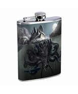 Gigantic Octopus Kraken D3 Flask 8oz Stainless Steel Sea Monster Attacki... - $12.82