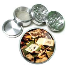 Golf 1930 Memorabilia Image Metal Silver Aluminum Grinder D16 63mm Herbs Spice - $10.26
