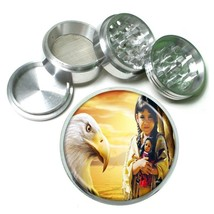 Indian Native American Aluminum Grinder D9 63mm 4 Piece Tribes Tent Wild West - $7.88