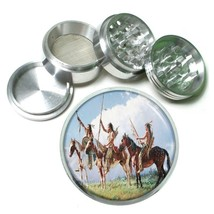 Indian Native American Aluminum Grinder D2 63mm 4 Piece Tribes Tent Wild West - $7.88