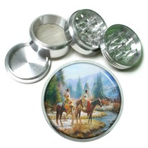 Indian Native American Aluminum Grinder D1 63mm 4 Piece Tribes Tent Wild West - $7.88