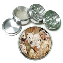 Indian Native American Aluminum Grinder D8 63mm 4 Piece Tribes Tent Wild West - $7.88