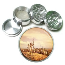 Indian Native American Aluminum Grinder D7 63mm 4 Piece Tribes Tent Wild West - $7.88