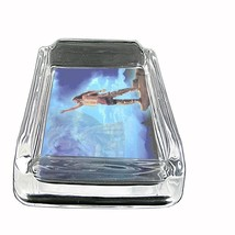 """Indian Native American Glass Ashtray D6 4""""x3"""" Tribes Tent Wild West - $7.88"""