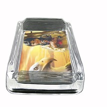 """Indian Native American Glass Ashtray D9 4""""x3"""" Tribes Tent Wild West - $7.88"""