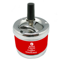 Keep Calm And Carry On Smoking Stylish Designer Spin Ashtray D 052 - $7.91