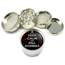 """Keep Calm And Kill Zombies Metal Grinder 4 Pc 2"""" D 019 - $8.70"""