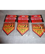 KISS THE BAND LOGO AIR FRESHENER SET OF 3 WILDFLOWER SCENTED - $8.86