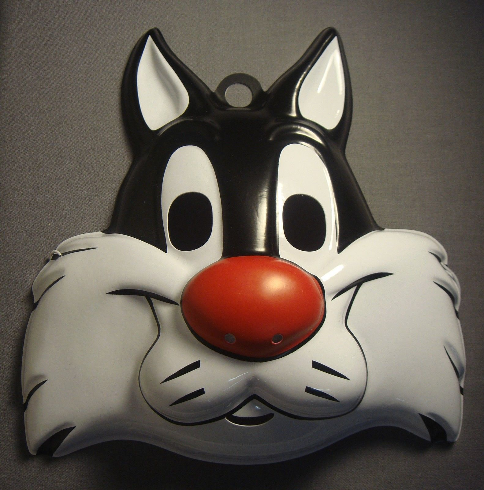 Sylvester Cat PVC Mask Looney Tunes Fancy Dress Up Halloween Costume Accessory