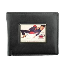 Lucky Strike D4 Black Bifold Leather Wallet Vintage Cigarette Smoking Ad... - $6.88