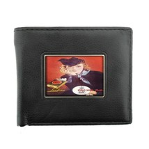 Lucky Strike D10 Black Bifold Leather Wallet Vintage Cigarette Smoking A... - $6.88
