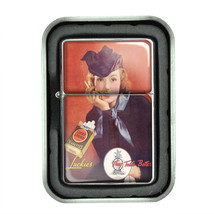Lucky Strike Oil Lighter With Case Vintage Cigarette Smoking Ad Classic Logo D10 - $12.95