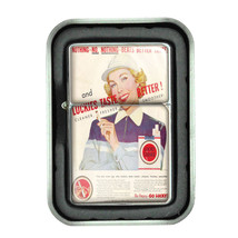 Lucky Strike Oil Lighter With Case Vintage Cigarette Smoking Ad Classic Logo D14 - $12.95